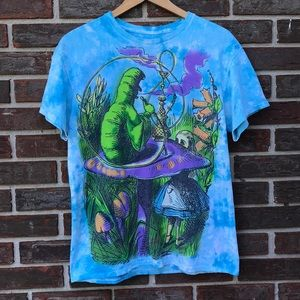 Alice and Wonderland tie-dye tee